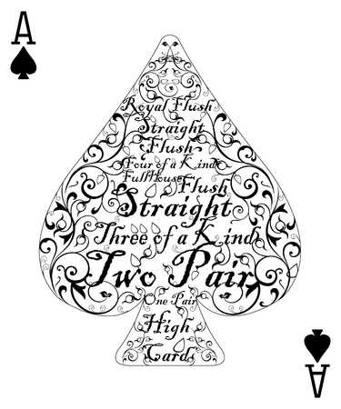 Ace de poker carte b�che - la carte parfaite Illustration