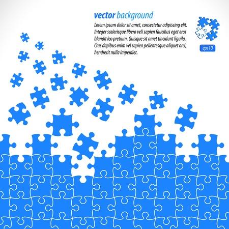 Diseño de vector de piezas de Puzzle