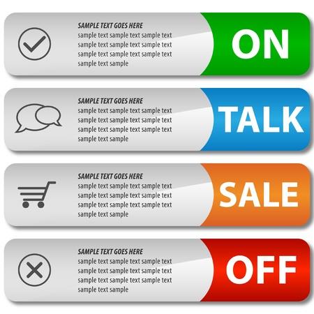 Modern elegant sale design eps10 vector banners