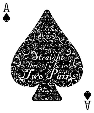 에이스: 포커 카드 스페이드 에이스 - 완벽 한 카드 일러스트
