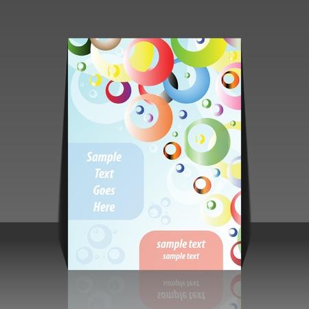 Bubbles flyer design Stock Vector - 10014195