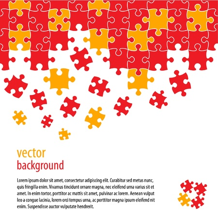 different idea: Puzzle pieces vector design