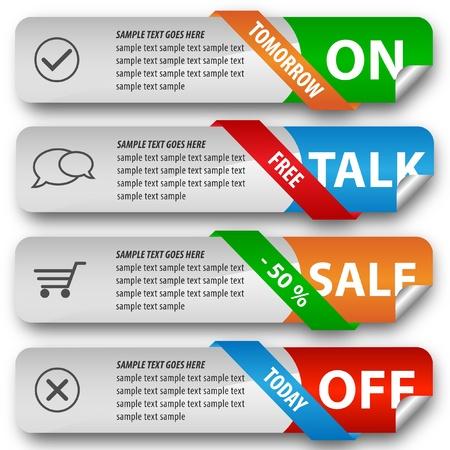 Modern elegant sale design eps10 vector banners Stock Vector - 10014219
