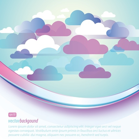 Abstract Cloud Background Vector Stock Vector - 11839677