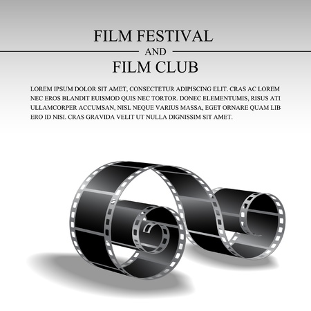 projections: Film strip vector template