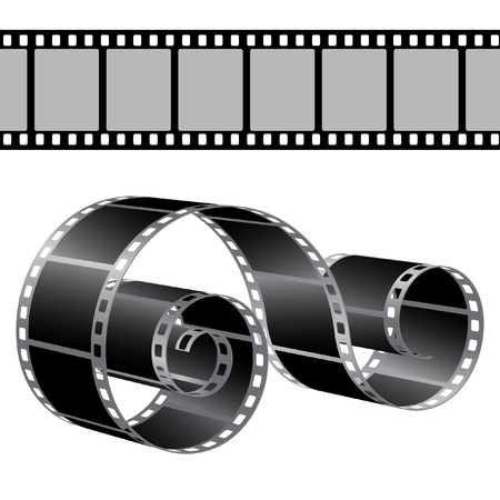 Film strip vector template