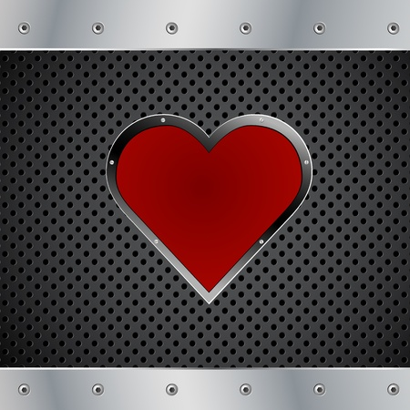 Valentines Day Metal Vector Background Stock Vector - 12357102