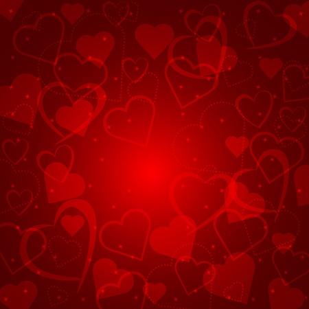 Abstract background with hearts of love Vector