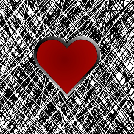 Abstract texture background with heart Vector