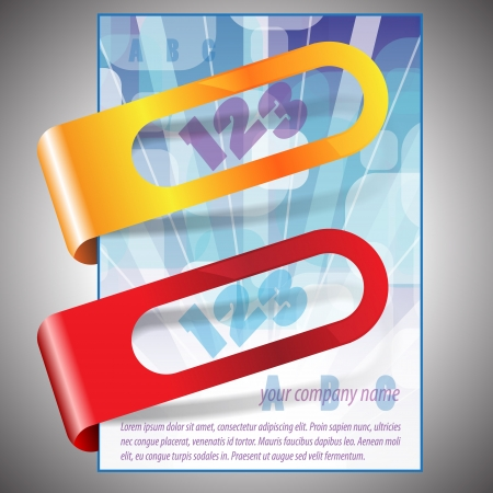 Bubbles flyer design with stickers Vector