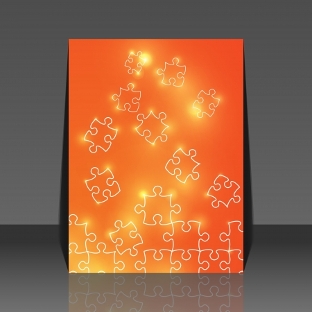 managed: Abstract puzzle background flyer design