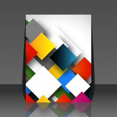 quadrant: Colorful square empty background - blank quadrant design - flyer Illustration