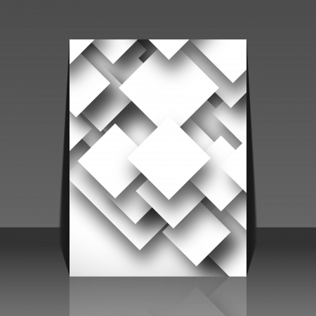 Black and white square empty background - blank quadrat design - flyer
