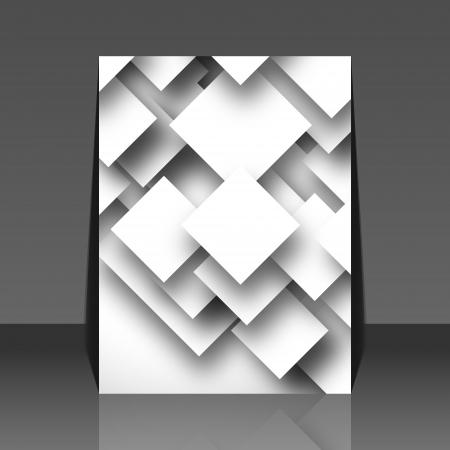 Black and white square empty background - blank quadrat design - flyer