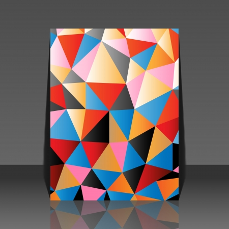 Abstract colorful mosaic design background triangle - delta flyer Vector