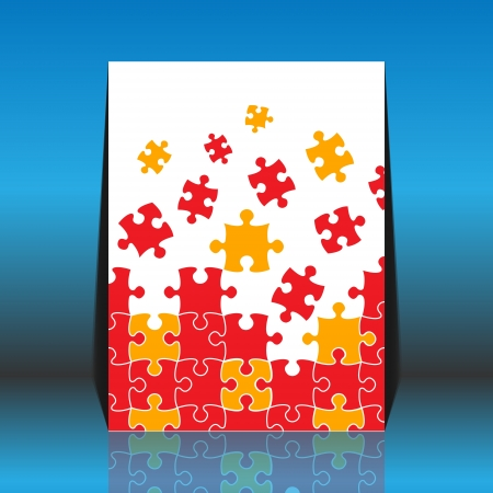 Puzzle pieces - flyer design Stock Vector - 18871024