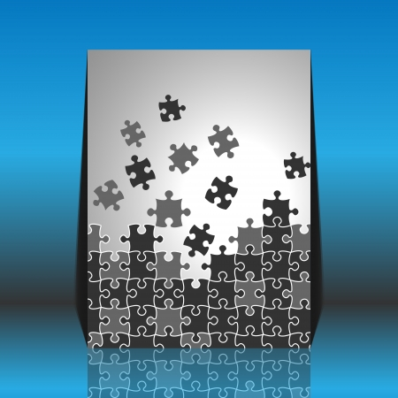 Puzzle pieces - flyer design Vector