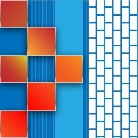 wawe: Seamless blocks background Illustration