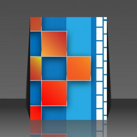 wawe: Seamless blocks background - flyer design Illustration