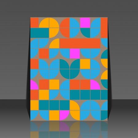 Abstract seamless pattern - retro background flyer design Illustration