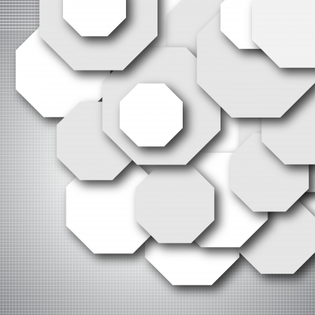 quadrat: Octagon empty background - blank quadrat vector design Illustration
