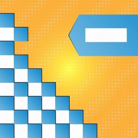 wawe: Seamless blocks vector background -  design Illustration