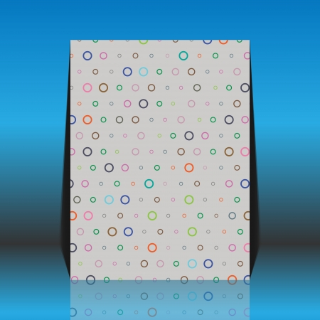 worn paper: Aged and worn paper with colourful round dots  Illustration