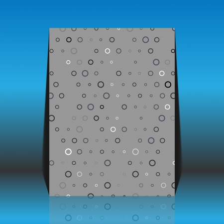 worn paper: Aged and worn paper with black and white round dots Illustration