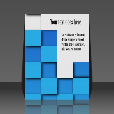 Colorful set of banners with squares - flyer design