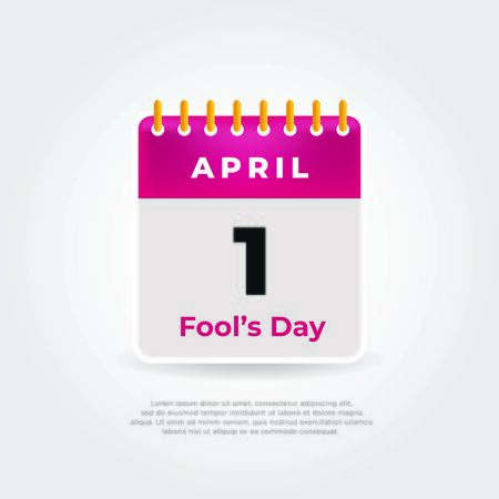 Fool's day calendar. April fools day background