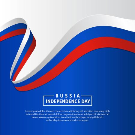Russia Independence day background. 12th June Russian Day. Celebration Russia Independence day