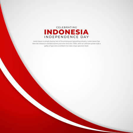 Simple and elegant Indonesia independence day design perfect for marketing online, greeting card, festival card, background, banner, backdrop,