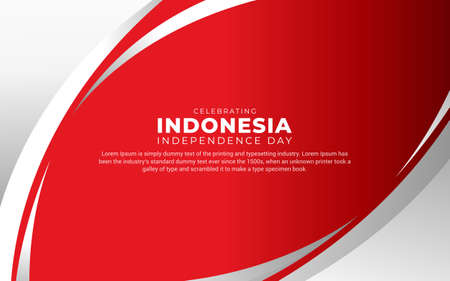 Modern Indonesia independence day design perfect for marketing online, greeting card, festival card, background, banner, backdrop,