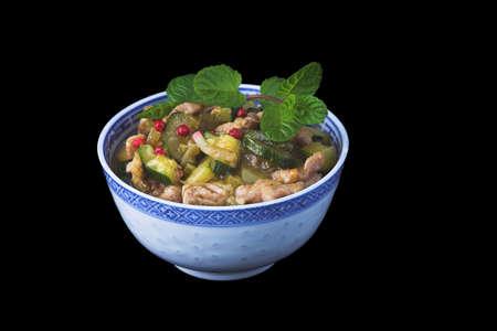 Asian food on black background. Stock Photo - 1833078