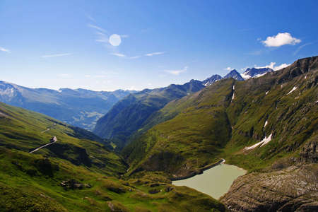 This image was taken in the morning at Grossglockner (2700 m) photo
