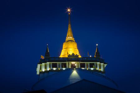 The Golden Mount at Wat Saket night photography photo
