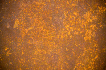 pitted: Old rusty steel metal with heavy rust Stock Photo