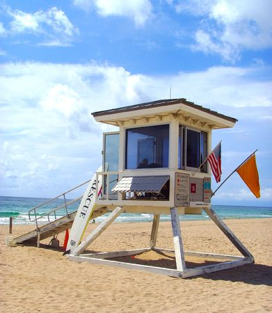 Lifeguard Rescue Beach Tower... Stock Photo - 1215306
