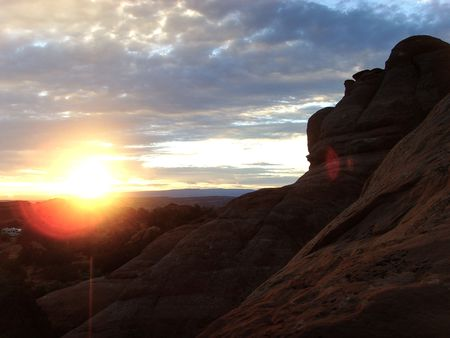 np: Sunrise Over Arches National Park...