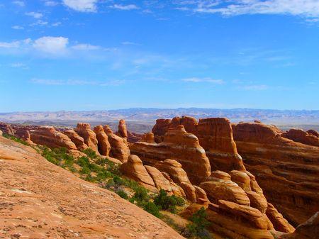 ut: Spectacular Deep Canyons at Arches National Park Utah...