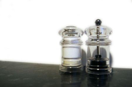 Glass Salt and Pepper Shaker Stock Photo - 1223321
