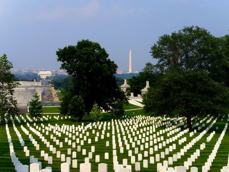 Washington DC War Memorial and Washington Monument Graveyard... Stock Photo - 1229713