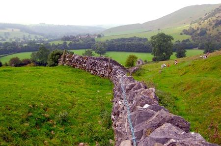 Vintage Stone Farm Field seperating Wall photo