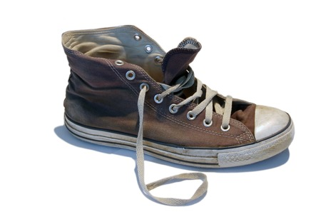 Old Sneaker, Trainer Baseball Shoe photo