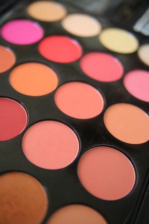 Make up. Cosmetics. Eye-shadow palette Stock Photo