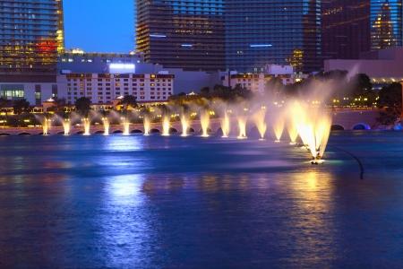 Las Vegas city at night Stock Photo
