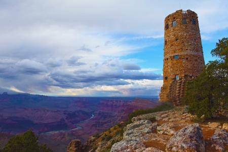 Desert View Watchtower in Grand Canyon , Arizona , America Stock Photo - 15833878