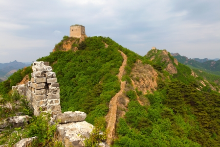 Famous great wall, Little River Wall ,China  photo