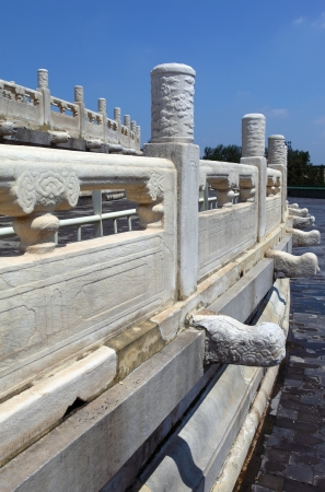 the marble lions decoration in Beijing  photo