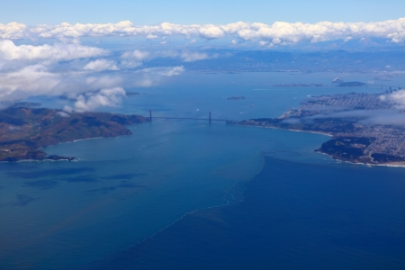 Aerial view of San Francisco Bay   photo